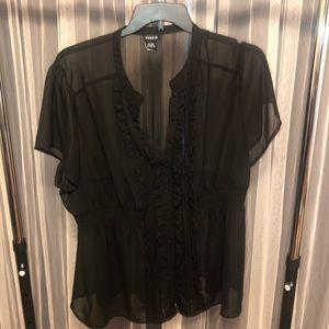 Torrid size 3 chiffon blouse